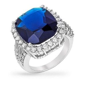 Gorgeous Blue Sapphire Ring 8ct Size 7